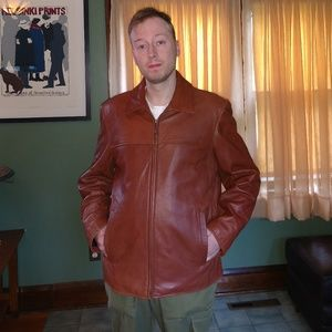FALL SPECIAL!!! Van Heusen soft brown leather coat